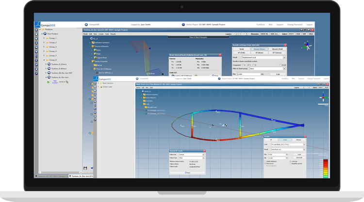 CompoSIDE | Composite design software features agile composite design workflows for design and analysis of composite products