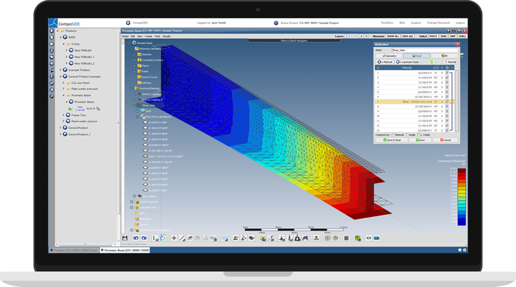 CompoSIDE | Composite design software features composite focused modules for design and analysis of composite beams and panels