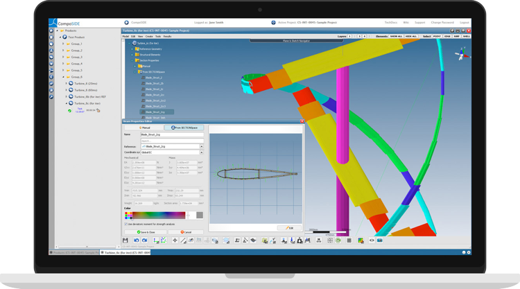CompoSIDE | Composite design software features integrated and collaborative environment for design and analysis of composite models and structures.